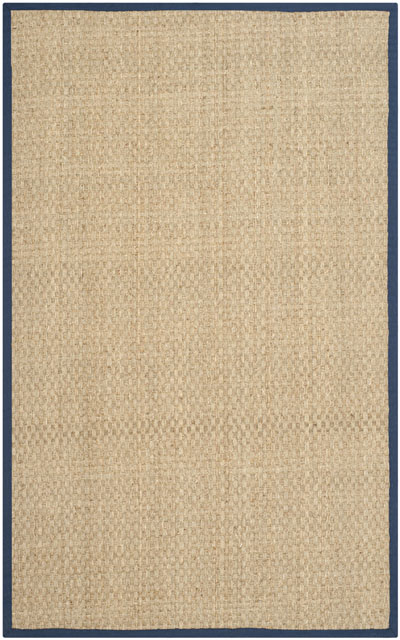 Safavieh Natural Fiber NF114E Natural and Blue area rug