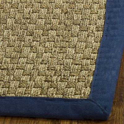 Safavieh Natural Fiber NF114E Natural and Blue