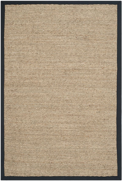 Safavieh Natural Fiber NF115C Natural and Black area rug
