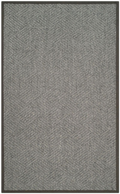 Safavieh Natural Fiber NF464A Grey and Dark Grey