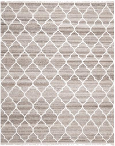 Safavieh Natural Kilim NKM317A Light Grey and Ivory