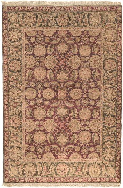 Safavieh Old World OW115A Burgundy and Green area rug