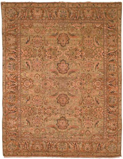 Safavieh Old World OW115C Light Green and Gold area rug