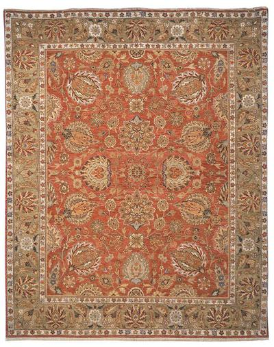Safavieh Old World OW117A Copper and Green area rug
