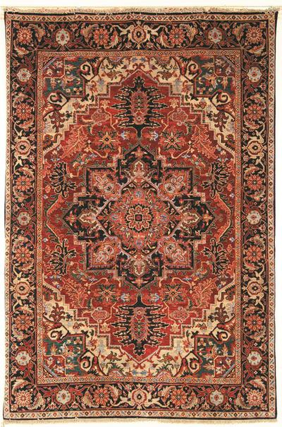 Safavieh Old World OW126A Rust and Navy area rug