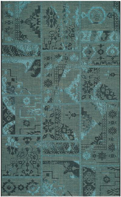 Safavieh Palazzo Pal121 56c4 Black And Green Area Rug Free Shipping