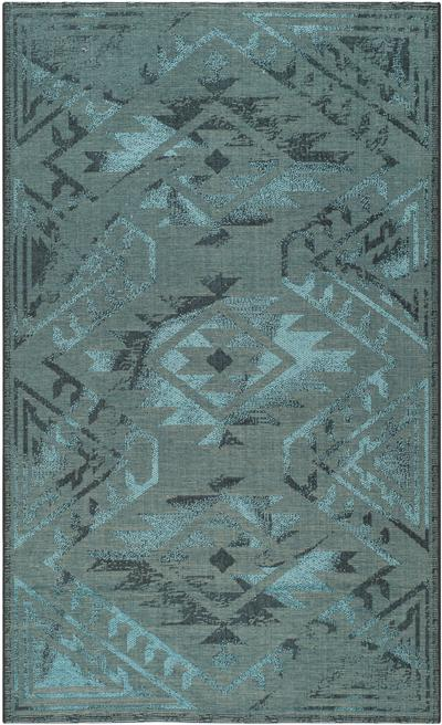 Safavieh Palazzo PAL122-56C4 Black and Turquoise