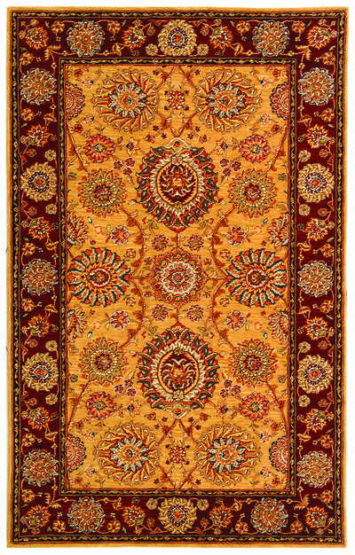Safavieh Persian Court PC445A Gold and Burgundy