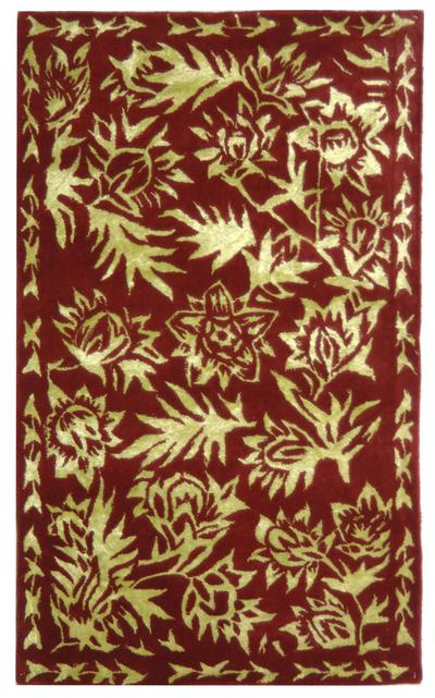 Safavieh Riviera RIV312A Red and Gold area rug