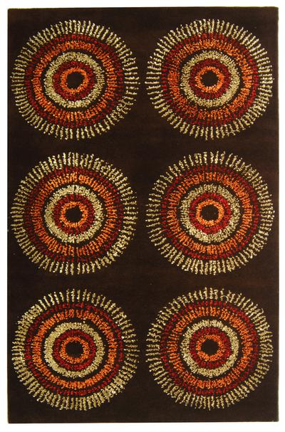 Safavieh Soho SOH719B Brown and Gold area rug