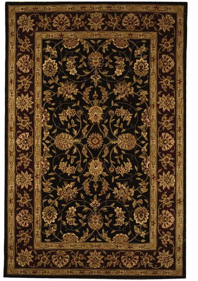 Safavieh Traditions TD602C Black and Burgundy area rug