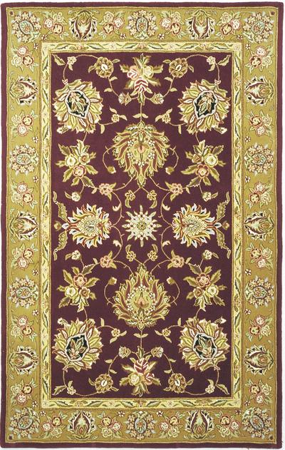 Safavieh Traditions TD606C Red and Gold area rug