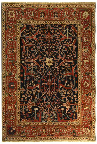 Safavieh Turkistan TRK103B Navy and Red area rug