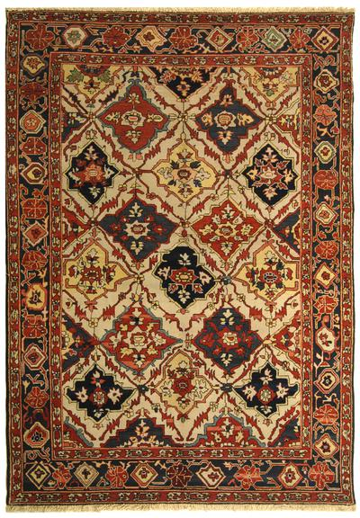 Safavieh Turkistan TRK114B Ivory and Navy
