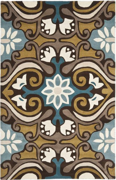 Safavieh Wyndham WYD327A Blue and Multi area rug