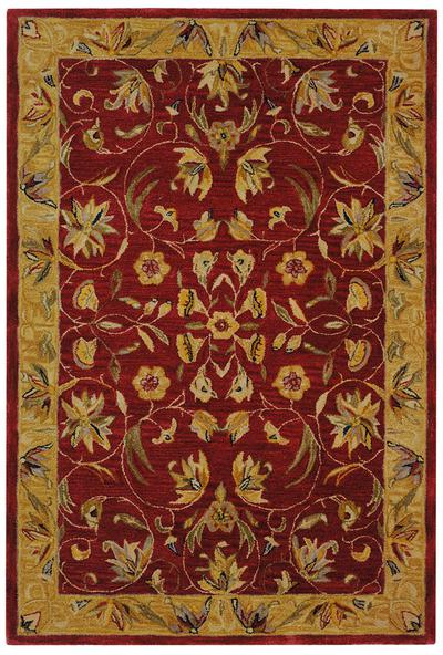 Safavieh Anatolia An526a Burgundy And Gold Area Rug Free