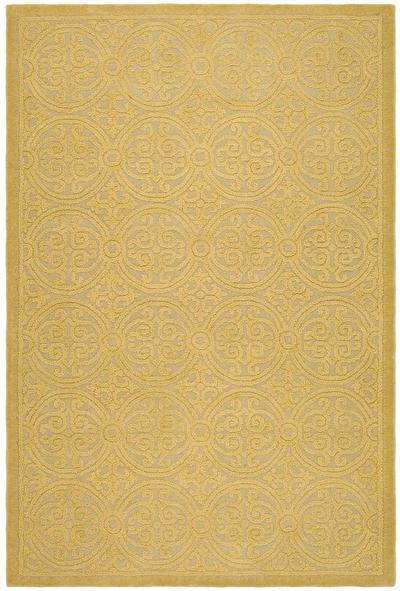 Safavieh Cambridge CAM233A Light Gold and Dark Gold area rug