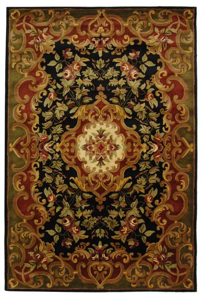 Safavieh Classic CL234D Black and Green area rug