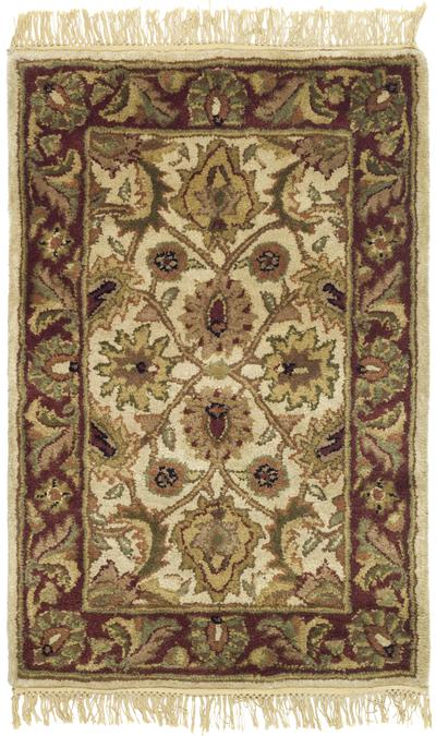 Safavieh Classic CL244D Ivory and Red area rug