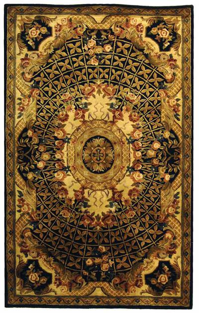 Safavieh Classic CL304A Black and Gold area rug