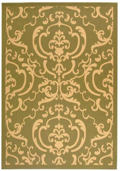 Safavieh Courtyard CY2663-1E06 Olive and Natural