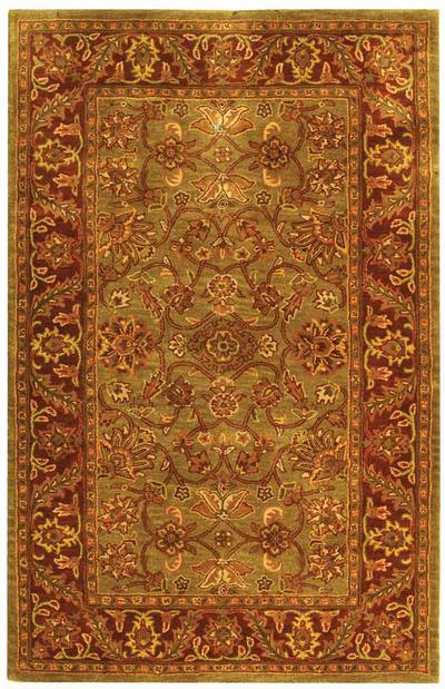 Safavieh Golden Jaipur GJ250A Green and Rust area rug