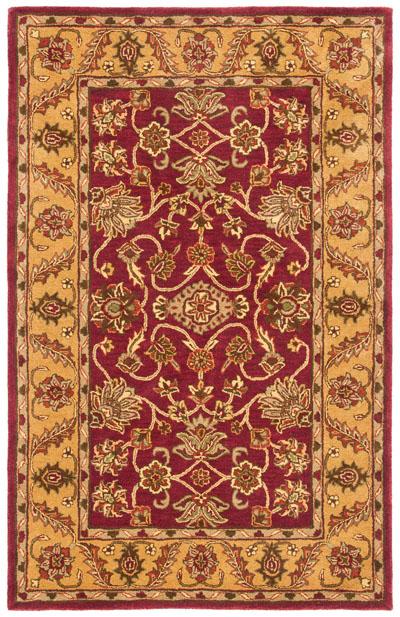 Safavieh Golden Jaipur GJ250C Burgundy and Gold