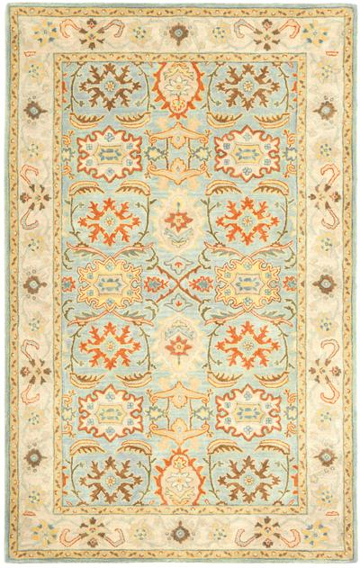 Safavieh Heritage HG734A Light Blue and Ivory area rug