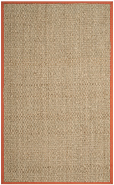Safavieh Natural Fiber NF114Y Natural and Rust