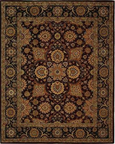 Safavieh Persian Court PC459A Burgundy and Navy area rug