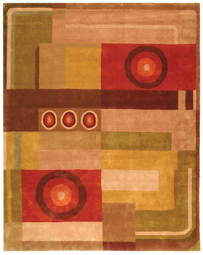 Safavieh Rodeo Drive RD623A Khaki and Rust area rug