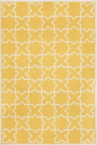 Trans Ocean Capri Moroccan Tile Yellow 1606 09 Area Rug