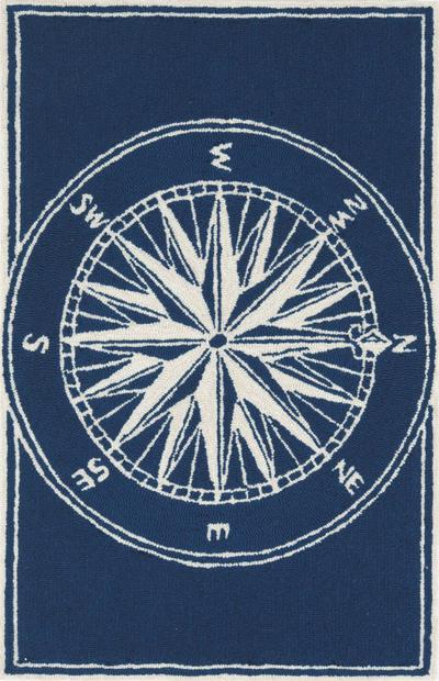 Trans Ocean Frontporch Compass Navy 1447/33