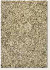 Couristan Graphite Hexagons and Ivory/Latte 0256/0700