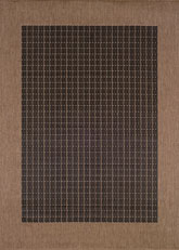 Couristan Recife Checkered Field and Black/Cocoa 1005/2000