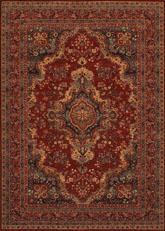 Couristan Old World Classics Kerman Med and Burgundy 1067/3097