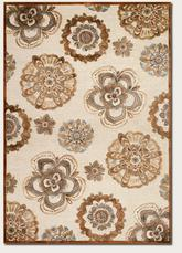 Couristan Cire` Gilmore and Antique Cream/Terra 1358/8260