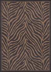 Couristan Recife Zebra and Black/Cocoa 1514/0121