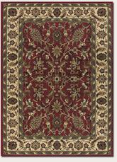 Couristan Anatolia Floral Ispaghan and Red/Cream 2056/0010