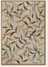 Couristan Covington Spring Vista and Neutrals/Blue 2104/1040