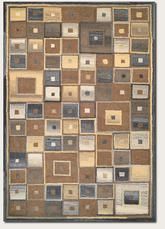 Couristan Super Indo Natural Abstract Squares and Brown 2149/0004