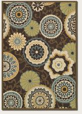 Couristan Covington Stella and Chocolate/Multi 2396/0007
