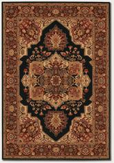 Couristan Everest Antique Sarouk and Black 2829/5123