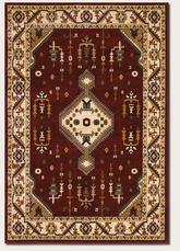 Couristan Anatolia Tribal Diamond and Red/Cream 2871/0782