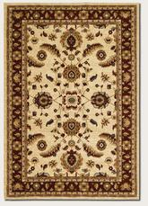Couristan Anatolia Floral Heriz and Cream/Red 2872/0788