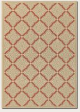 Couristan Five Seasons Sorrento and Cream/Terra Cotta 3077/0011