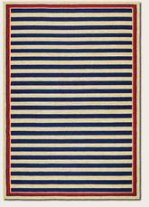 Couristan Covington Nautical Stripes and Navy/Red 3126/0630