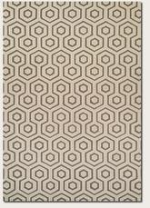 Couristan Bowery Ainslie and Ivory/Grey 3680/0162