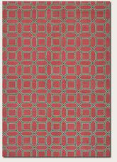 Couristan Bowery Havemeyer and Crimson/Brown 3691/0153