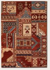 Couristan Timeless Treasures Kerman Mosaic and Burgundy/Rust 4323/0300